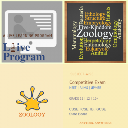 Zoology Subject-wise course